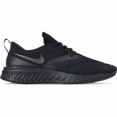Men's Nike Odyssey React Flyknit 2 Running Shoes Black/Black/White AH1015 003