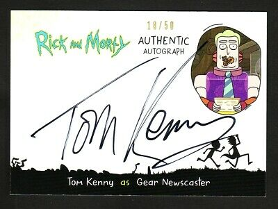 Rick And Morty Season 2 Autograph Card Tk-Gn Tom Kenny Gear Newscaster 18 Of 50