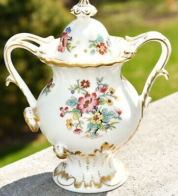 Coalport of England MING ROSE Fine Bone China Footed Potpourri Vase