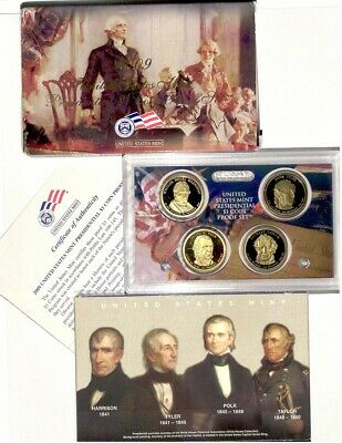 2009 S  $1 Presidential 4 coin PROOF set
