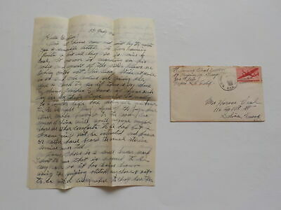 Chinese Civil War Letter 1946 Lucky Strike Hit Parade Coolies WW2 Peiping China