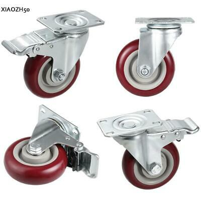 """Heavy Duty 4"""" Caster PVC Swivel Wheels Replacement for Shopping Cart 1200lbs"""