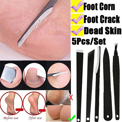5Pcs/Set Nail Cuticle Remover Dead Skin Pusher Trimmer Pedicure Manicure Tools