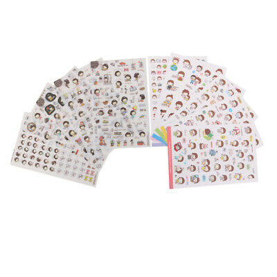 11 Sheets Cartoon Self Adhesive Stickers Sticky for Scrapbooking Decoration