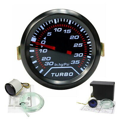 Universal 52mm Bar Blue Led Light Pressure Turbo Boost Gauge Meter DC 12V UK
