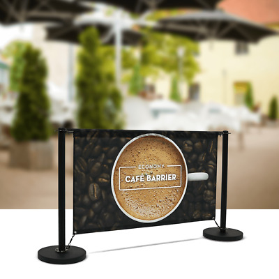 Cafe Barrier - with custom printed fabric graphic