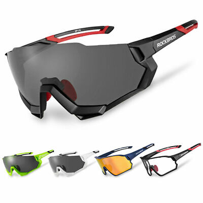 RockBros Polarized Cycling Sunglasses Goggles Eyewear Photochromatic Glasses