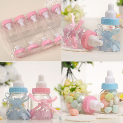12× Fillable Bottles Sweet Candy Boxes Baby Shower Baptism Party Table DIY Decor