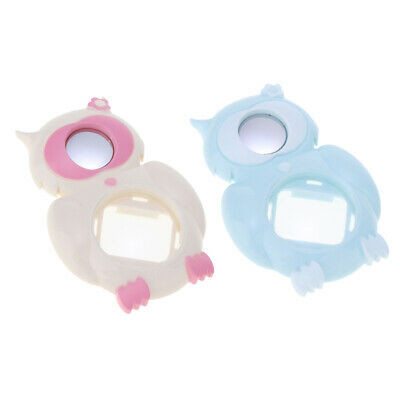 2x Owl Close Up Lens Selfie Mirror for Fuji Instax Mini 8/8+/9, White+Blue