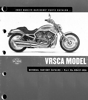 2002 Harley-Davidson Vrsca V-Rod Parts Catalog Manual -Vrod-Vrsca