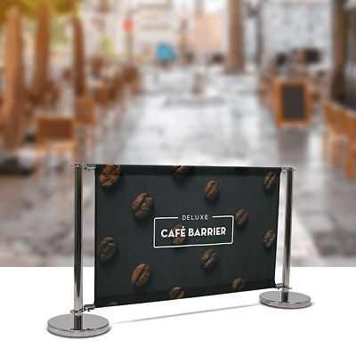 Cafe Barrier - Deluxe model with custom printed fabric graphic