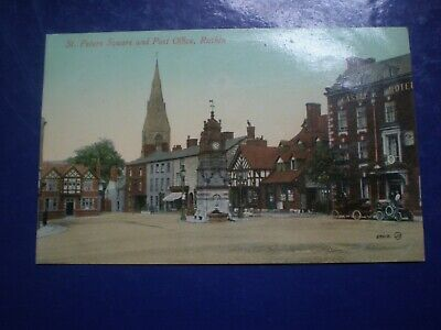 Old postcard St Peter's Square and Post Office Ruthin c1900s