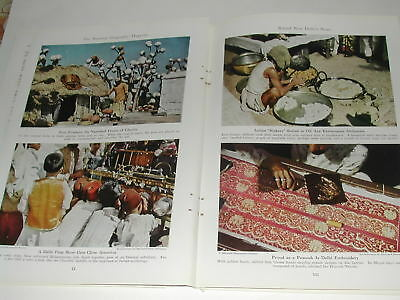 1942 NEW DELHI magazine article, New Delhi India, WWII, color photos