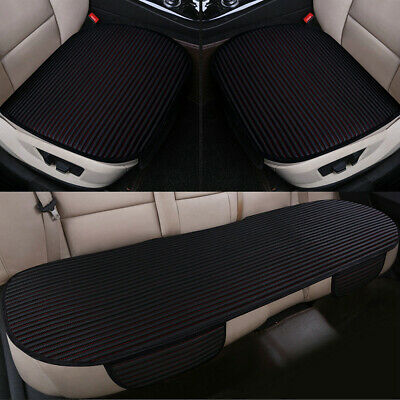 3X Auto Car Seat Covers Protect Cushion Chair Mat Pad Full Set Front Rear Black