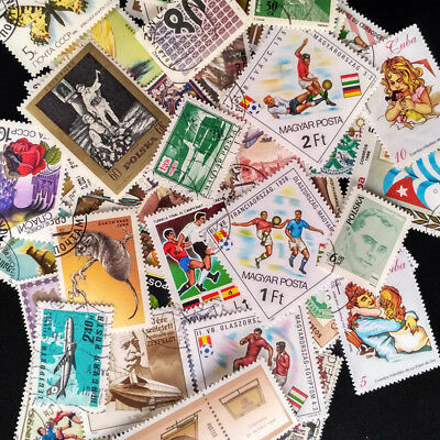 100PCS Vintage Retro Worldwide Postage Stamp Random Worldwide Stamps Collection