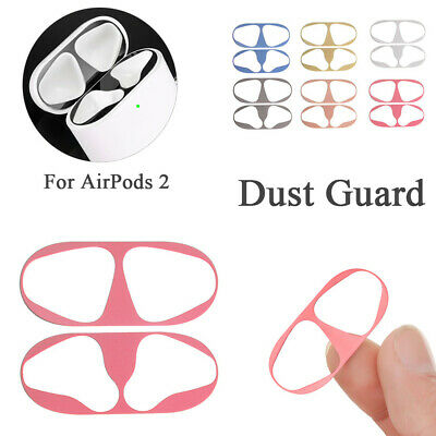 Cover Metal Film Sticker Dust Guard Dust-proof Protector For Apple AirPods 2