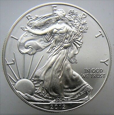 2012 American Silver Eagle BU 1 oz Coin US $1 Dollar U.S. Mint Uncirculated *012