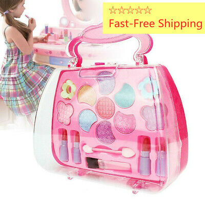 Baby Girl Makeup Set Cosmetic NON-TOXIC Pretend Play Kit Princess Toy Set Gifts