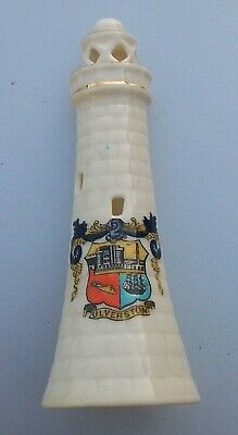 Very Rare Old Crested Ulverston Model Of John Barrow Hoad Monument W R Stamp.