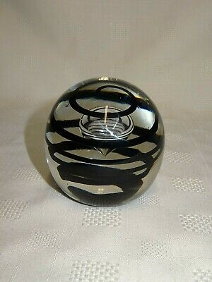 Collectable Vintage 1975 Liskeard Glass Swirl Paperweight