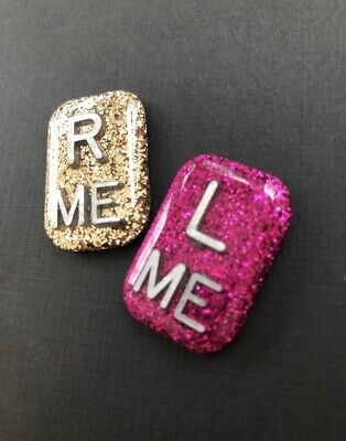 Pair of X-ray Markers. Available In solid colour or glitter finish And Initials