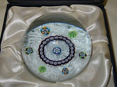 Boxed Vintage CG Caithness Glass Paperweight - Laticino