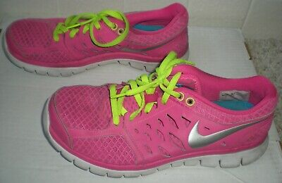 6bd6db90bbc81 Nike Womens Running Shoes Flex 2013 Run Pink Silver Size Us 8 Eur 39  Sneakers