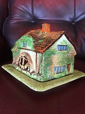 ROYAL WINTON GRIMWADES ART DECO YE OLDE MILL WATER MILL  CHEESE DISH Early Vers