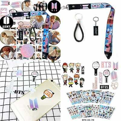 BTS Bangtan Boys Gift Set For Army 12 Pack Button Pins 40 Photo Card 1 Long Lany