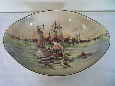 Royal Doulton Series Ware Home Waters Oval Dish D6434 Signed W E Grace