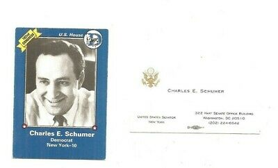 1991 NEA card and official business card Chuck Schumer N. Y. (D)