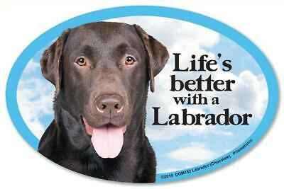 Life's Better With A Labrador Retriever Dog Car Fridge Plastic Magnet