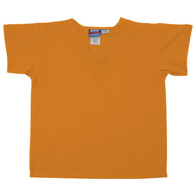 Gelscrubs Kids Light Orange Scrub Shirt, Large (9-12 Years Old) 6774-TEN-L