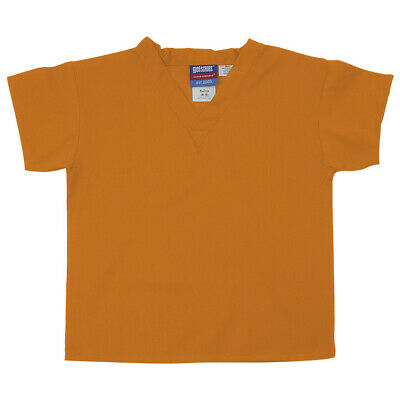Gelscrubs Kids Light Orange Scrub Shirt, Medium (6-8 Years Old) 6774-TEN-M