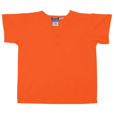 Gelscrubs Kids Orange Scrub Shirt, Large (9-12 Years Old) 6774-ORA-L