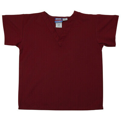 Gelscrubs Kids Crimson Scrub Shirt, Large (9-12 Years Old) 6774-CRI-L