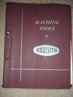 Vintage ASQUITH Machine Tool Catalogue 1940s? Drilling Milling Boring Aircraft