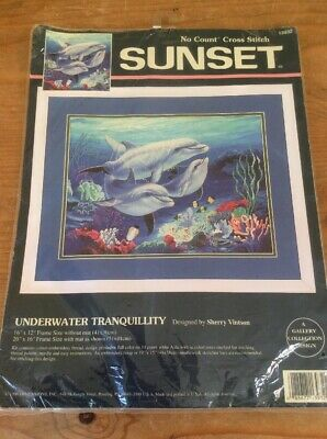 Sunset  Cross Stitch Kit - Underwater Tranquillity