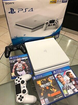 Sony Console Playstation4 Slim White Limited Edition 500GB