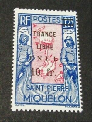 nystamps French St. Pierre & Miquelon Stamp # 219 Mint OG H $65