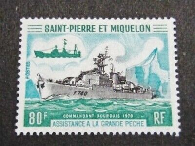 nystamps French St. Pierre & Miquelon Stamp # 411 Mint OG H $65