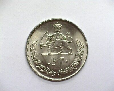 Middle Eastern 1973 20 Rials  Gem++ Uncirculated Km#151A