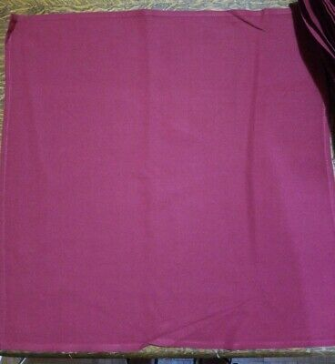 "Pack of (50) 19"" x 19"" Maroon Cloth Table Napkins - 7 Packs Available NEW!"
