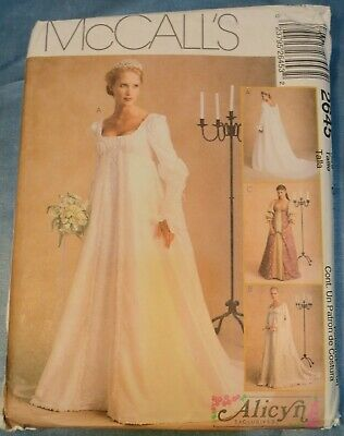 McCall's Pattern 2645 Misses'  Bridal Gown by  Alicyn   Size 12-16 UNCUT