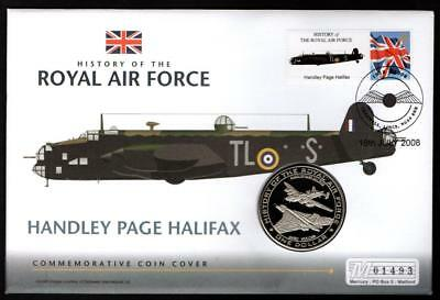 2008 One Dollar Coin And Stamp Cover Handley Page Halifax