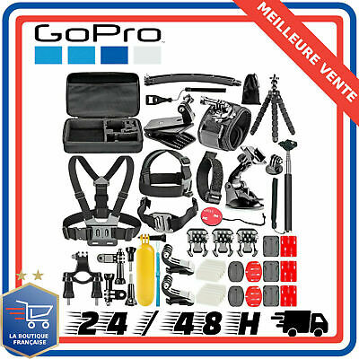 53-en-1 Kit d'Accessoires GoPro Hero 7 6 Session 5 4 3+ 3 2 1 Camera Sport SJCAM