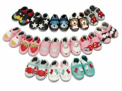 Skid-Proof Baby Soft Genuine Leather Infant Baby Boys Girls Shoes First Walkers