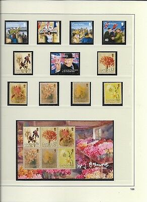 2005 MNH Guernsey year collection, complete  (3 scans)