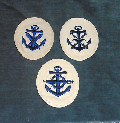 c.WW2 German Navy or Kriegsmarine Trade insignia collection. Qty -3 ..