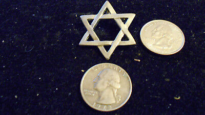 bling pewter 6 point star hebrew jewish pendant charm necklace hip hop jewelry